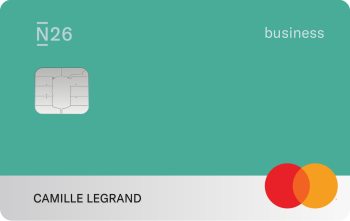 N26 Cards Mastercard Business Teal Fr